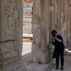 Yumiko at Ephesus, Turkey